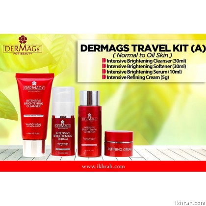Dermags Skin Care Trial Set / Travel Kit (A) For Normal to Oily Skin