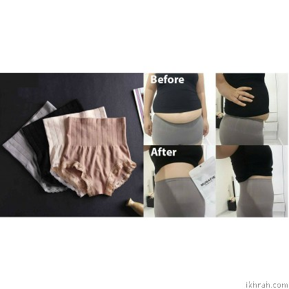 MUNAFIE Japanese Fashion High Waist Women's Panties Soft and Smooth