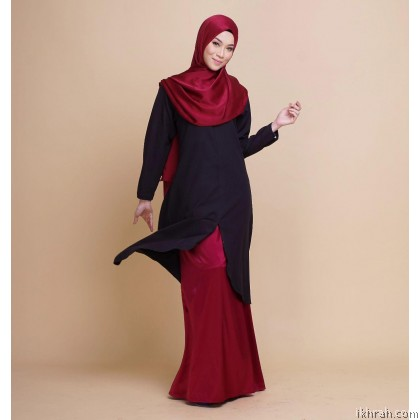 Ruby Premium Muslimah Blouse [Black] - Exclusive From Zayyan Ar Rayyan