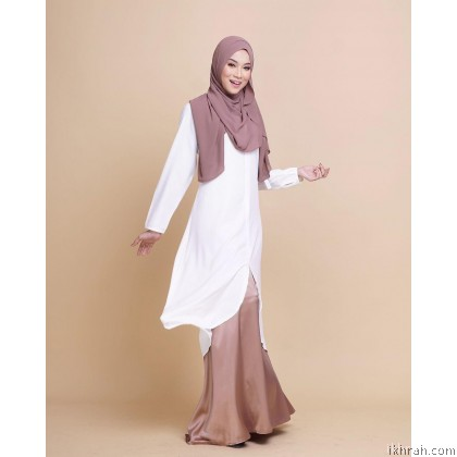 Ruby Premium Muslimah Blouse [White] - Exclusive From Zayyan Ar Rayyan