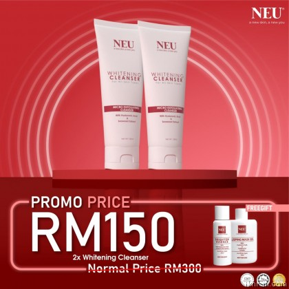 New Promotion! Twin Pack (2 Unit) NEU Whitening Cleanser (120ml)