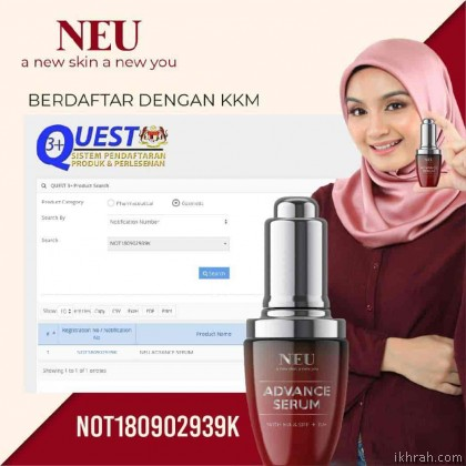[Combo Package 4 Unit] New Promotion! NEU ADVANCE SERUM With HA & SPF + PA++ (30ml)
