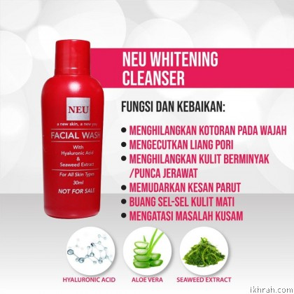 New Promotion! Complete Set 2 NEU ADVANCE SERUM & FACIAL WHITENING CLEANSER