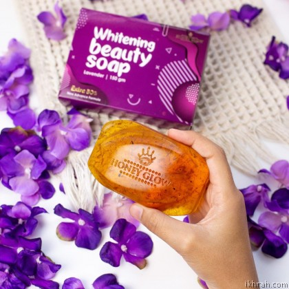 [100% Original FREE POSTAGE] COMBO PACK 3 UNIT New Packaging Honey Glow Beauty Whitening Soap (150 gm)